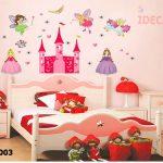Trang trí phòng ngủ cho bé bằng giấy dán tường decal