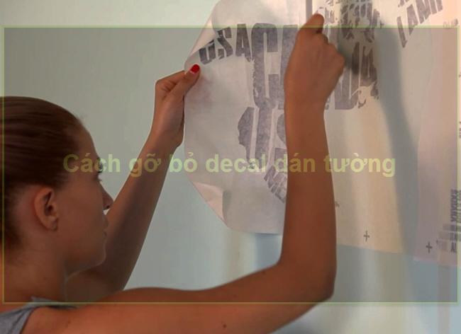 Bí quyết gỡ bỏ Decal giấy dán tường nhanh và hiệu quả
